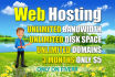 give you 3 months unlimited website hosting