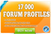 create 17000 Forum profiles with Xrumer Order NOW