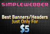 design your header,banner with free psd for your website