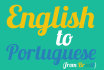 translate your English text into Portuguese