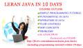 teach java basics including programming tutorials within 10 days