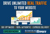 drive unlimited REAL traffic and send 5 secret sources