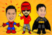 make a Superhero caricature of you with my style