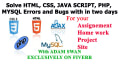 fix your any html css javascript bugs in project assignment  within two days