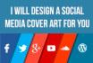design a social media cover art for you