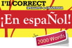 correct your Spanish texts up to 2000 words