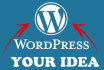 create or Build Any Wordpress Website For You