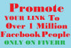your link promote to over 1 MILLION facebook people