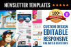 do Responsive Newsletter Template for mail chimp