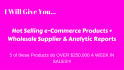 give 7 HOT selling ecommerce products and wholesale supplier
