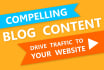 write a compelling 250 to 300 word blog post