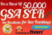 do a blast of 100,000 Verified GSA Ser live Backlinks for Seo Rankings
