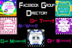 add your Facebook group to my DIRECTORY