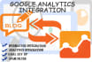 help you with Google Analytics and Webmaster Tools Integration