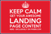write awesome landing page content