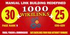30 pr9 profile 25 high pr edu and 1000 wiki backlinks seo