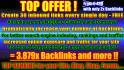 build Contextual top quality,do follow, relevant,  Backlinks to ur site or url