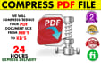 compress, reduce your PDF Documents size  to few Kb
