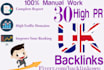 manually do 30 high pr UK seo backlinks