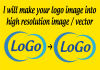 make your logo image into high resolution image