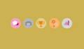 hacer 5 iconos flat, de la temática que tu quieras