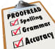 proofread any type of writing to a perfect fit