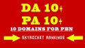 find 10 Unique Expired Domains for Your PBN with High pa and da
