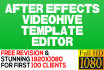 edit your after effects videohive template