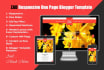 give you ZAD One Page Responsive Blogger Template