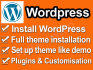 install wordpress and theme according to demo in 30 minutes