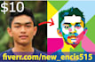 draw your photo into WPAP style