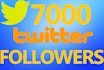 get you 7000 Real twitter followers