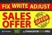 create a strong sales OFFER