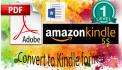 convert Pdf OR Doc to Kindle format