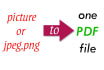 make your jpeg ,pictures files in one pdf file