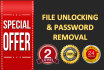 remove password for pdf or office document