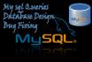 create database queries and fix errors