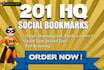 create 201 High Quality Social Bookmarking Backlinks