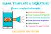 create stunning email signature and template