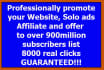 promote your mlm link,solo ads or website