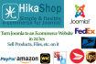 convert Joomla to an Ecommerce Store using Hikashop