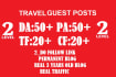 do guest Posts on  Travel Blogs