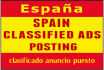 advertise your business in 10 Spanish classified ads submissions