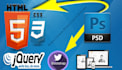 convert psd, jpeg, png to html5, css3 using bootstrap3