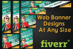 design Outstanding web banner at any size
