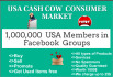 provide face book member groups links having 1,000,000 USA cash cow consumers