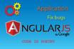 fix bugs or create AngularJS applications