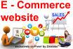 design and develop complete E COMMERCE website