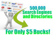 submit your website to over 500000 search engines