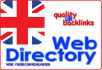 do 52 high Pr UK web directory submissions manually